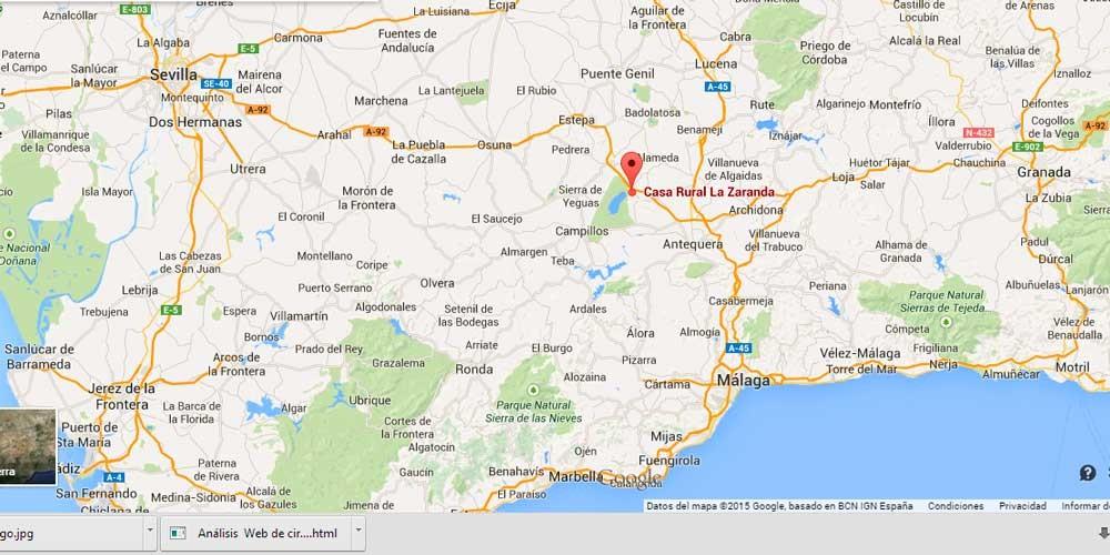 Mapa Fuente de Piedra - Antequera - Málaga - Andalucía - Spain